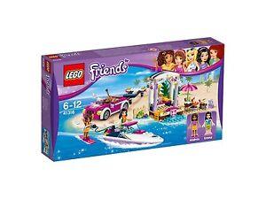 LEGO Friends 41316 Andreas RennStiefel Transporter Auto mit Stiefel Kinder Spielzeug