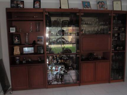 CHISWELL TEAK WALL UNIT in excellent condition   Cabinets   Gumtree ...