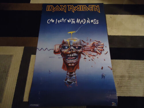 IRON MAIDEN HOLDINGS FUNKY #3171 1988 CAN I PLAY WITH MADNESS POSTER