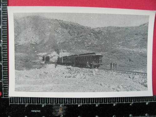 COLORADO & SOUTHERN RAILROAD NARROW GAUGE PASSENGER STOPPED AT TUNNEL PASSENGERS