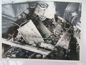 gresford colliery disaster  section of the  damaged pit head    press photo