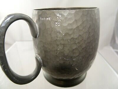 Pewter 1/2 Pt Measure By Gaskell & Chambers London 8.5cm In Height.