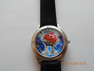 Mars Watch M&M Official Candy New Millenium Limited Ed 1998 Silver Black Red Acc