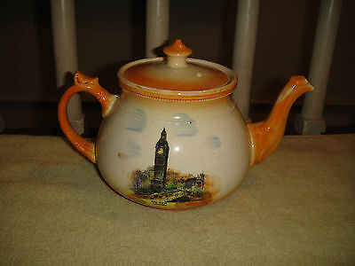 Vintage Royal Bradwell Teapot-Arthur Wood Teapot-Big Ben-House Of Parliament