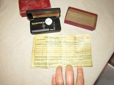 Vintage L.s. Starrett Last Word Universal Test Indicator 711-f W Orig Receipt