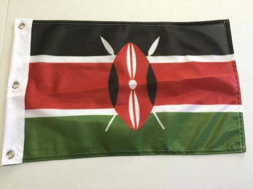 """12"""" x 18"""" KENYA FLAG KENYAN FLAGS AFRICAN NEW AFRICA  20"""
