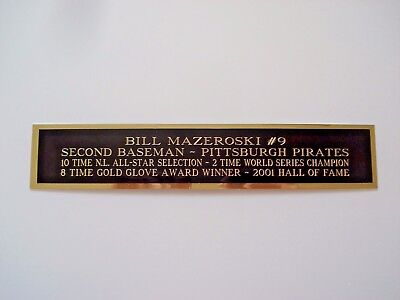 Bill Mazeroski Nameplate For An Autographed Baseball Bat Display Case 1.25 X 6
