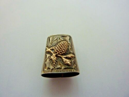 Vintage Open Ended Thimble Sterling 10Kt
