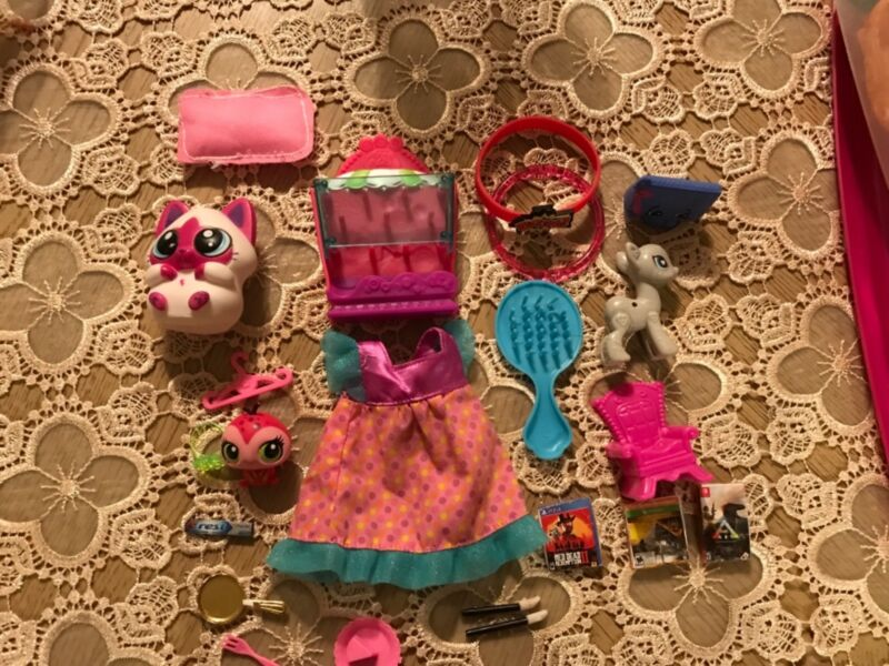 Lot for you and toys,clothes,lps,food,pop pony,shopkins