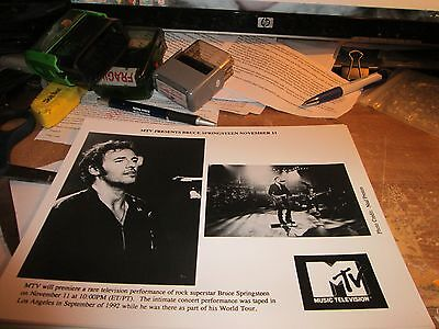 BRUCE SPRINGSTEEN PROMOTION PHOTO VINTAGE  90'S PROMO SHOT 8 X 10 COLLECTABLE