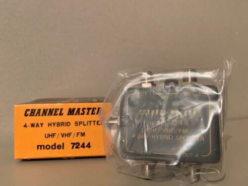 Channel Master Model 7244 VHF/UHF/FM 4-way Hybrid Splitter A