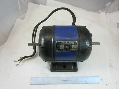 Vintage Craftsman Electric Motor 12 Hp 1750 Rpm 1 Phase 110 V 12 Dual Shafts