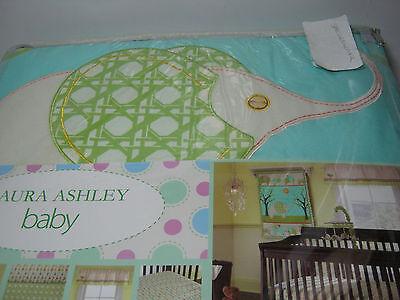 7pc Laura Ashley Baby ELEPHANT PARADE Crib Bedding Set Quilt Valance Crib Sheet