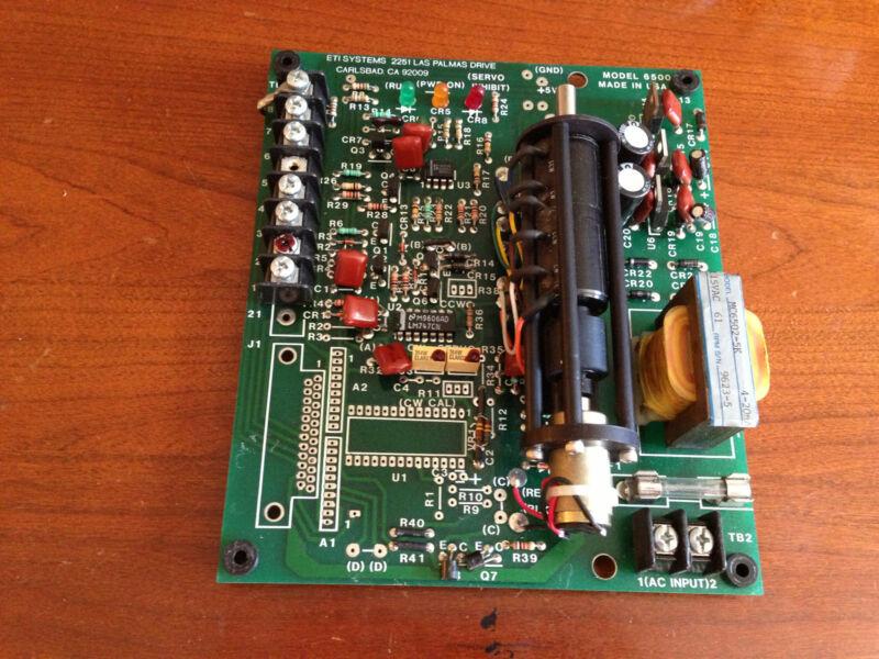 ETI SYSTEMS  MODEL 6500 CONTROL BOARD