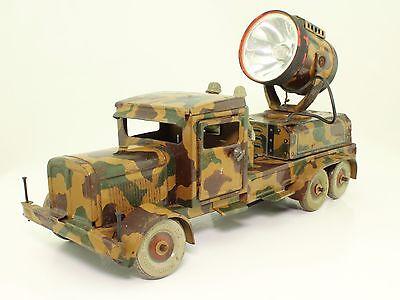Blechspielzeug - Tippco TCO FLAK Scheinwerfer LKW mit Massesoldaten Vorkrieg