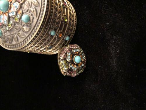 Heidi Daus Ring and Bejeweled Box
