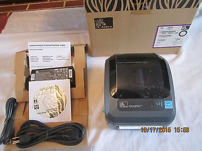 Brand New Zebra GK420D Label Thermal Printer Ethernet Network and USB  for sale  Shipping to South Africa