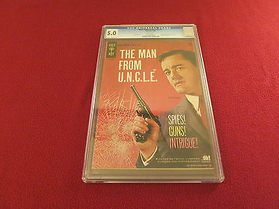 1965 1St Issue   Man From Uncle   Rare Cgc Graded Gold Key Original Comic Book