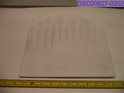 Qty 50 Royal Paper 9 Viscose Pleated Chef Hat Le Toque