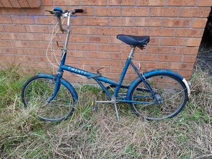 Vintage retro Raleigh twenty folding bicycle