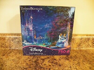 New Thomas Kinkade Disney Cinderella Dancing Starlight Puzzle 750 Piece