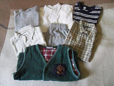 7 tlg Paket für Jungen Gr. 92-110 Hemd Weste Strick Pullover Hose T-Shirt ()