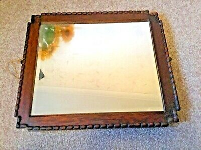 Vintage Oak Wall Mirror for sale  Shipping to South Africa