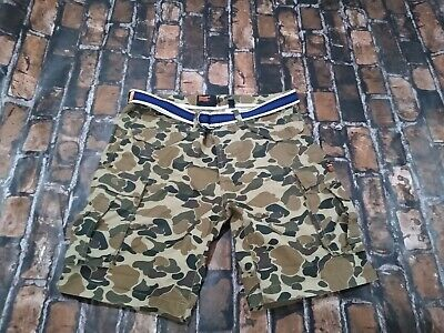 SUPERDRY MEN'S SHORTS CARGO COMBAT small camo CAMOUFLAGE