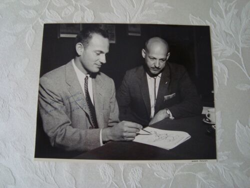 """Vintage Frontier Airlines Photo """"Bud"""" Maytag President AUTOGRAPHED Aviation"""