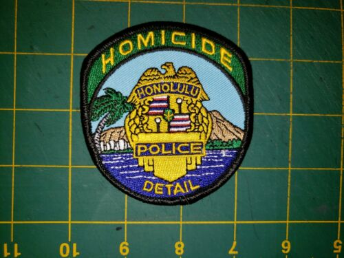 HAWAII SHERIFF POLICE PATCH HONOLULU HOMICIDE DETAIL OLD PATCH