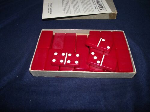 Vintage Crisloid Red Dominoes