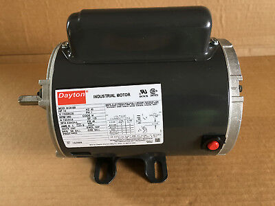 Dayton Industrial Motor 12hp 115208-230v Ph1 Model 6k361bb New Old Stock