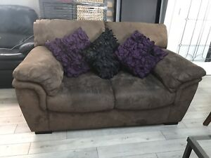 FREE micro suede love seat.  Abbotsford.  (No pillows)