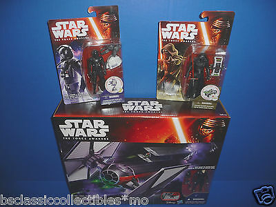 Star Wars The Force Awakens Tie Fighter Ship Figure  Kylo Ren   Tie Pilot Figure