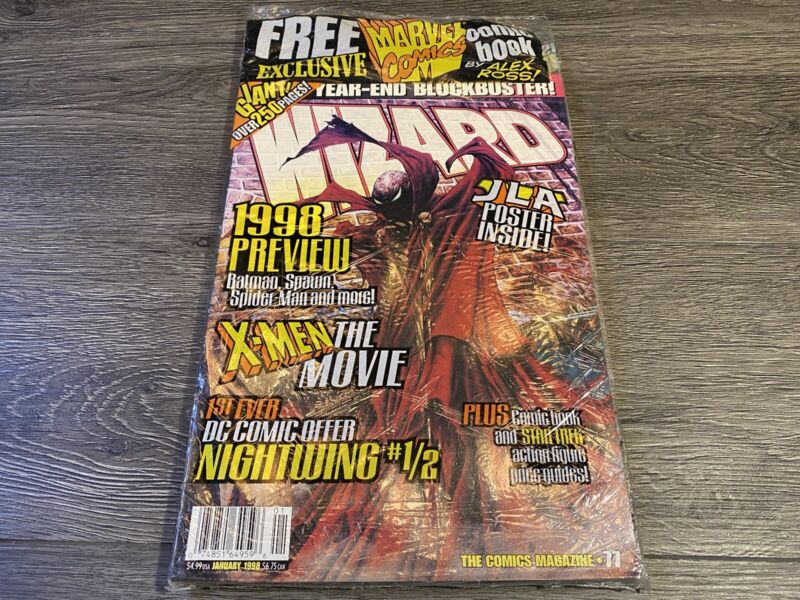 Wizard Magazine Issue 77 Sealed Promo Free Marvel Alex Ross Earth X Comic