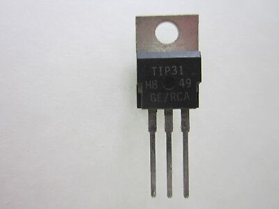 Tip31 Npn Power Transistors Bag Of 100 Gerca To-220 3 Amp 40 Volt Usa Seller