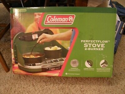 Coleman Perfectflow Stove 2-Burner NEW w/2  16 oz Propane Tanks/LOCAL P/U ONLY Perfectflow 2 Burner Stove