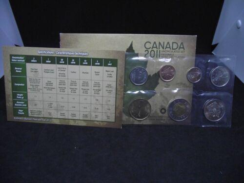 2011 Canada Uncirculated Set, 7 Coin
