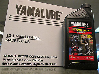 Yamalube Genuine Oil 1 Case 12 Quarts 2S Two Stroke Blaster Zuma 50 PW50 PW80