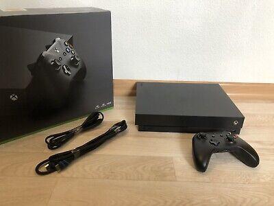 Microsoft Xbox One X 1TB 1000GB Schwarz mit Controller vom Händler