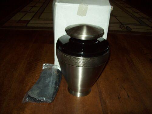 Adult Cremation Urn for Human Ashes with Velvet Bag