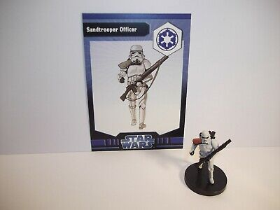 Star Wars Miniatures - Sandtrooper Officer 18/40 + Card - Imperial Entaglements