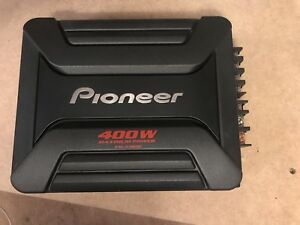 Brand new Pioneer 400W amplifier and wiring kit