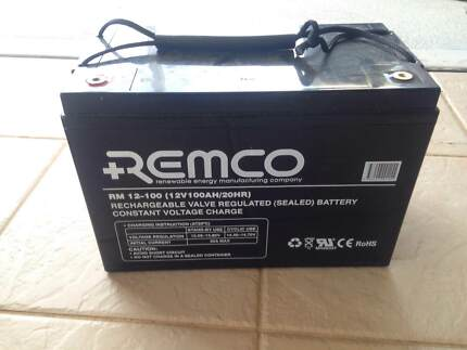 Remco RM12-100Ah Deep Cycle AGM Battery + Box Taree Greater Taree Area Preview