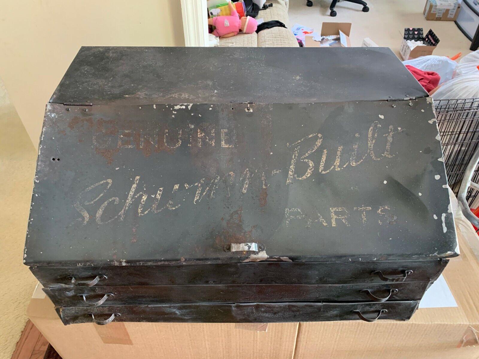 Vintage Schwinn Bicycle Metal Parts Box Cabinet GAS OIL COLA Store Display (Used - 899.99 USD)