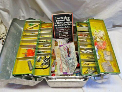 Vintage Tackle Box My Buddy Tacklemaster Aluminum  4 Trays Fishing