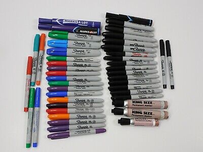 Lot Of 45 Sharpie Permanent Markers Assorted Colors Fine Ultra Chisel Tip