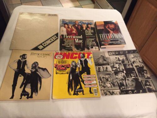 Fleetwood Mac lot of 6 Rumors Song Book Mick Fleetwood life and adventures 1979