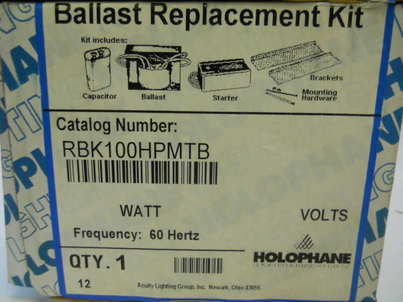 HOLOPHANE BALLAST REPLACEMENT KIT RBK100HPMTB *NIB*