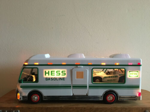 1998 Preowned Collectible Hess Recreation Van with Dune Buggy and Motorcycle